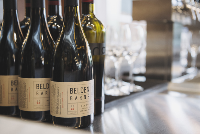 A selection of Belden Barns wines