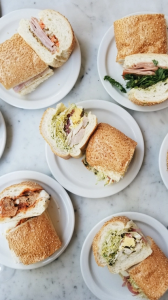Photo of several sandwiches